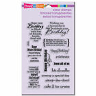 Birthday Wish Card Sentiments Stampendous Clear Acrylic Stamp Set SSC1115 NEW