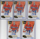 (5) ZACHARY FUCALE 2016 UPPER DECK UD THE NATIONAL CANADIENS RC AUTOGRAPH 100