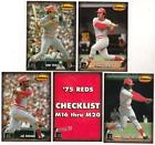 Lot Of 10 1993 Ted Williams Co. Memories '75 Reds Sets - Johnny Bench + More