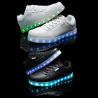 Kids Boys Girls LED Light Luminous Lace Up Shoes USB Charger Trainers Sneakers