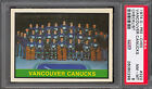 1974-75 OPC O PEE CHEE #322 VANCOUVER CANUCKS UNMARKED TEAM CARD PSA 8 nm-mint