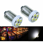 50x 1893 44 47 1847 BA9S 4SMD LED Pinball Machine Light Bulb White 63V