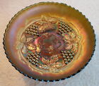 CABLE ANTIQUE CARNIVAL GLASS Bowl ~EMERALD GREEN!