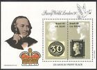 Brazil 1990 Rowland Hill Penny Black Stamp on Stamp StampEx S on S 2v m s n41072