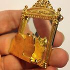Vintage Signed JJ Gold Tone KITTY CAT Reflection LOOKING in MIRROR BROOCH Pin