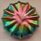 SMALL Incredibly METEORIC Iridescent LUNDBERG Glass URCHIN Sculpture PAPERWEIGHT