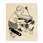 STAMPENDOUS RUBBER STAMPS LIL MR FIX IT STAMP