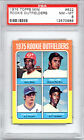 1975 Topps MINI # 622 Rookie Outfielders PSA 8 Fred Lynn RC Red Sox