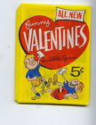 1960 TOPPS CARD ALL NEW FUNNY VALENTINES WAX PACK N mint MINT FREE SHIPPING
