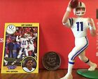 1991 Jeff George Starting Lineup Loose w/ card collector coin Indianapolis Colt