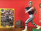 1991 Troy Aikman Starting Lineup Loose w/ card collector coin Dallas Cowboys