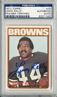 PSA DNA SIGNED 1972 TOPPS LEROY KELLY 1550