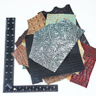 10 Pack of High End Variety Embossed Cowhide Leather Pieces