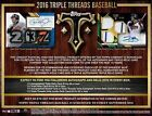 2016 Topps Triple Threads Factory Sealed Hobby Box PRESELL