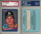 Jose Canseco Athletics 1986 Donruss #39 Rated Rookie Card rC PSA 10 Gem Mint
