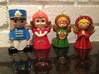 Lot 4 Vintage Paper Mache Angels  Soldier Figurine  Christmas Ornaments Japan