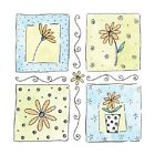 PENNY BLACK RUBBER STAMP DAISY WINDOWS STAMP