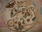 Big Mixed Vintage Jewelry Lot Art Deco Antique Sterling Earrings RING Mosaic ++