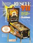 Rescue 911 Pinball Flyer / Original Brochure