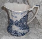 Olde English Countryside 22 oz Pitcher Johnson Bros Blue Transferware 6
