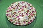 TWO SERVING BOWLS * FORMALITIES by BAUM BROTHERS YELLOW CHINTZ  -  NWOT