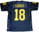 AMANI TOOMER AUTOGRAPHED SIGNED MICHIGAN WOLVERINES 18 NAVY JERSEY JSA