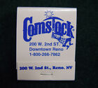 Vintage Comstock Casino  Hotel Reno NV Match Book Brand New Old Stock