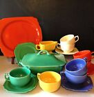 16 Pc Lot Vintage Homer Laughlin RIVIERA Casserole Platter Cups Plates NO CHIPS