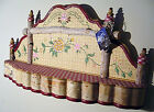 VTG TRACY PORTER EMBROIDERED FLORAL FLOWER BIRCH SHELF 2008 ARTESIAN COLLECTION