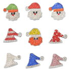 1PC Snap Button Jewelry X-mas Christams DIY For Bracelet Necklace Decoration