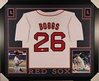 WADE BOGGS Boston Red Sox Autographed Custom Framed Jersey JSA Authentic