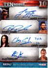 TNA Storm Roode Sabin Shelley 2012 TENacious RED Quad Autograph Card 5 of 10