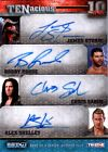 TNA Storm Roode Sabin Shelley 2012 TENacious GOLD Quad Autograph Card 32 of 100