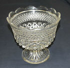 ANCHOR HOCKING WEXFORD FOOTED FOOTED CENTERPIECE BOWL, 7-3/4