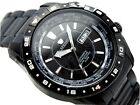 J Springs Beb058 Seiko Made in Japan Automatic World Travel Mens Watch Black NEW