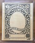 1998 STAMPIN UP Rubber Stamp Set FRIENDSHIP GARDENS Seed Pack RETIRED RARE