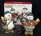 DEBBIE MUMM SNOW ANGEL VILLAGE NEW SNOWMAN SNOWMEN SUGAR & CREAMER Perfect SET