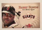 BARRY BONDS BASEBALL 8 CARD LOT 1987 TOPPS ROOKIE FLEER JUMBO