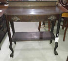 Antique Oak Server Buffet with claw feet