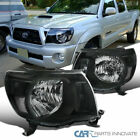 05 11 Toyota Tacoma JDM Black Clear Front Headlights Front Head Lamps Left+Right