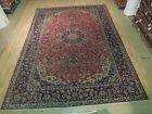 Balanced Delightful Rug Hand Knotted 10' x 14' Pre-Owned Persian Isfahan