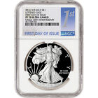 2016 W American Silver Eagle Proof NGC PF70 UCAM First Day of Issue 1st Label
