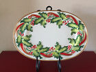 "Fitz Floyd Retired ""Noel Classique"" Large Christmas Platter Mint In Box"