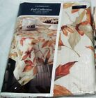Tablecloth Autumn Leaves Fall Collection Round 70 Croft and Barrow Fabric