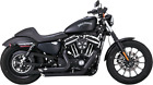 Vance  Hines 47229 Shortshots Staggered Exhaust System Black