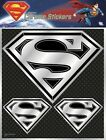 Superman Car Sticker Chrome Style Shield Logo Window Auto Decal