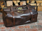 Large leather Lined Belted 1920s Gladstone Bag
