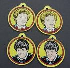 Dr Who Set of 7 Pinball Key Chains Rare Large G