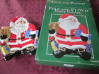 FITZ AND FLOYD HAPPY HOLIDAYS SANTA LARGE CANAPE PLATE EXCELLENT CONDITION
