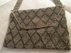 Antique C. 1920's French steel cut metal beaded coin change purse